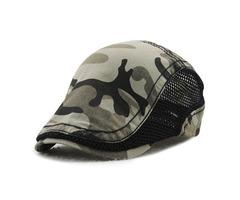 Men Women Camouflage Mesh Cotton Beret Cap
