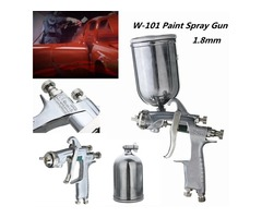 W101 HVLP 1.8mm Tip Paint Spray Gun Gravity Feed Base Coat Sprayer with Cup Filter