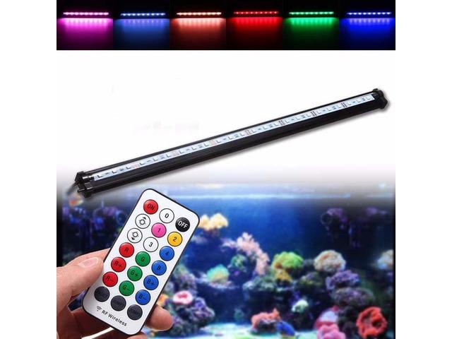 55CM RGB SMD5050 Rigid LED Strip Light Air Bubble Aquarium Fish Tank Lamp + Remote Control AC220V | FreeAds.info