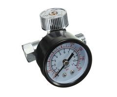 1/4inch Adjustable Mini Air Pressure Regulator Dial Gauge HVLP Spray Gun Air Tools