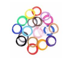 1.75mm 20 Color Sample Pack PLA 3D Pen Filament Refills - 10M Per Colorful