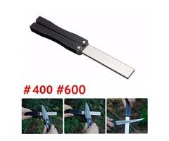 5 Inch Double Sided Folding Pocket Diamond Knife Sharpening Stone Sharpener 400&600 Grit