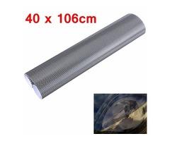 Tinting Perforated Mesh Film Fly Eye MOT Legal Tint Headlight Rear Lamp 40x106cm
