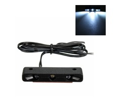 12V 0.3W Car Motorcycle 3 Micro LEDs Number Plate Tail Light Tiny Light White
