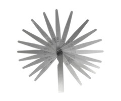 20 Blade Metric Feeler Gauge Set 0.05mm-1.00mm Precision Measure Tool Silver