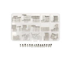150pcs Uninsulated Wire Butt Connectors 22-18 16-14 12-10 AWG Gauge Terminal
