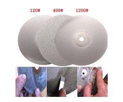 3pcs 6 Inch 120 400 1200 Grit Diamond Wheel Diamond Coated Diamond Grinding Disc
