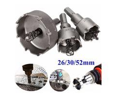 3pcs 26mm 30mm 52mm Carbide Tip TCT Drill Bit Hole Saw Cutter Tool