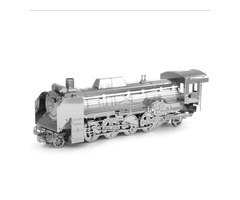 Aipin DIY 3D Puzzle Stainless Steel Model Kit Japan D51 Locomotive Silver Color