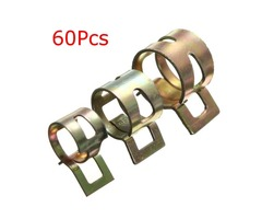 60Pcs Hose Water Pipe Air Tube Fuel Line Clamp Spring Clips
