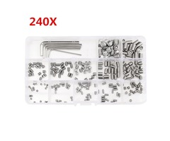 Suleve™ MXSS3 M3/M4/M5/M6/M8 Stainless Steel Socket Cap Screws Wrench Assortment Kit 240pcs