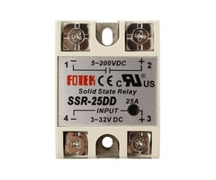 25A SSR-25DD Solid State Relay Module DC 3-32V To DC 5-200V