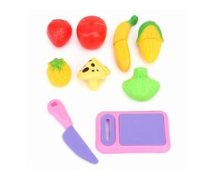 9PCS Fruit Vegetable Food Cutting Pieces Set Child Kids Role Play Toy Gift