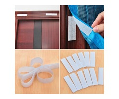 1 Roll Door Window Magic Tape Adhesive Double Sided Nylon Stick Loop