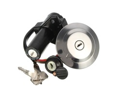 Fuel Gas Cap Ignition Switch Seat Lock w/ Keys Kit For Yamaha YBR 125 2002-2013