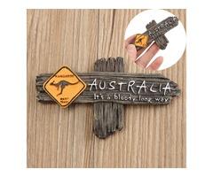 Bloody Long Way Australia Kangaroo Resin Souvenir 3D Fridge Magnet