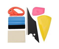 6pcs Window Tinting Tool Glass Vinyl Sticker Scraper Felt Squeegee Cutter