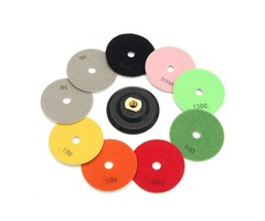 10pcs 4 Inch 50-3000 Grit Wet Dry Diamond Polishing Pads Set Diamond Polishing Tool