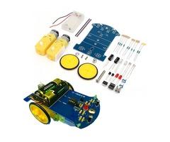 DIY Smart Tracking Robot Car Electronic Kit With Reduction Motor Set