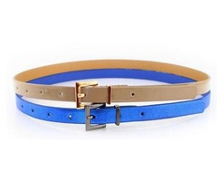 The new women's fashion Pu pin buckle belt