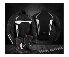 Motorbike Jacket Cordura Coat Waterproof Motorcycle Leather Boots