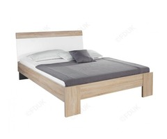 Rauch Samos Sonoma Oak with High Gloss White Bed | Furnituredirectuk.net