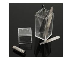 10Set Magnetic Metal Collar Stays Bones with Magnet & Box