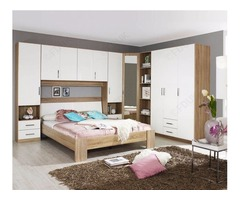 Rauch Samos Sonoma Oak with High Gloss White 3 Door Wardrobe
