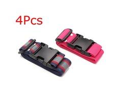 4Pcs Adjustable Suitcase Strap Name Tag Belt for Baggage Luggage Travel