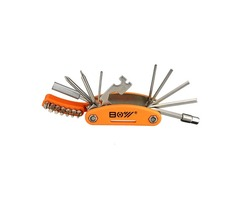 19 In 1 Bicycle Repair Tool Hexagon Screwdriver Wrench Set With Open Ended Spanner Spoke Wrench