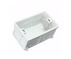 Wall Mounting Box Standard Light Touch Switch Cassette Plastic White 118 Model