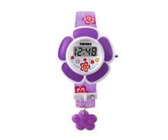 SKMEI 1144 Children Girl Flower Watch Kid LED Digital Cartoon Wristwatch