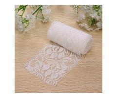 2m Wonderful Vintage White Lace Trim Bridal Wedding Ribbon Trimmings Sewing Craft