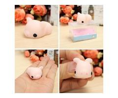 Pink Piggy Squishy Squeeze Pig Cute Healing Toy Kawaii Collection Stress Reliever Gift Decor