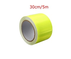 Yellow Reflective Safety Warning Conspicuous Tape Film Sticker 5x30CM/5x500CM