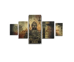 Frameless Huge Buddha Abstract Canvas Oil Painting Modern Art Home Wall Decoration