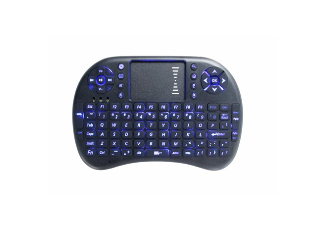 Backlit Mini Wireless Keyboard Mouse with Touchpad for PC Android TV HTPC | FreeAds.info