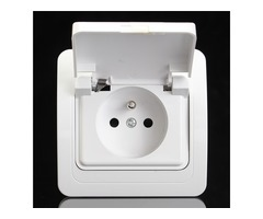 250V 16A 82x82mm EU Plug Wall Waterproof Socket Charger Port Outlet | FreeAds.info