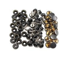 25pcs 15mm Metal Canvas Buckle Quick Snap Fastener Buttons Kits