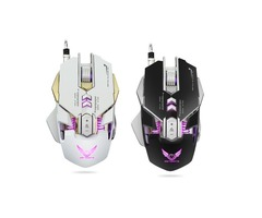 X300 7 Buttons 3200DPI LED Variable Light Ergonomic Wired Gaming Mouse