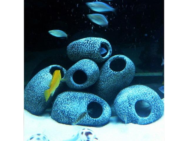 Aquarium Cichlid Stones Ceramic Rock Cave Ornament Cichlid Stones Fish Tank Cichlid Stones Decorati | FreeAds.info