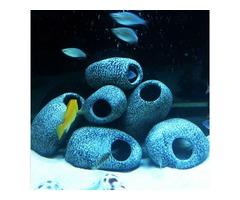 Aquarium Cichlid Stones Ceramic Rock Cave Ornament Cichlid Stones Fish Tank Cichlid Stones Decorati