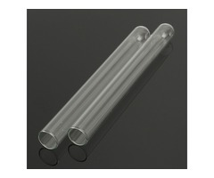 20x200mm Glass Flat Test Tube Glassware Chemical Experiment for Lab
