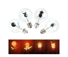 Vintage Industrial Filament Floral Iris E27 LED Night Light Bulbs Screw Cap Lamp