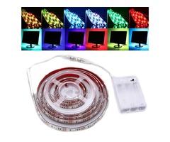 30/50/100/150/200CM Dimmable RGB 5050 LED Strip Light USB TV Background Lighting DC5V