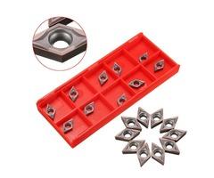 10pcs DCMT070202 Carbide Inserts for SDJCR1010H07 Turning Tool Holder