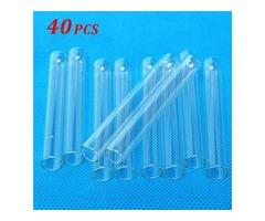 40Pcs 13x100mm Lab Chemistry Borosilicate Glass Test Tubes