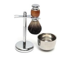 Shaver Kit Pure Badger Wet Shaving Brush with  Mug Bowl  and Stand Shave Razor Set