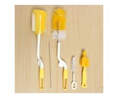 5Pcs Set Milk Bottles Nipple Clean Brush Sponge Cup Washing Tool Multifunction Rotation