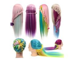 Multicolor Hairdressing Training Head Mannequin Model Braiding Practice Salon Clamp Holder